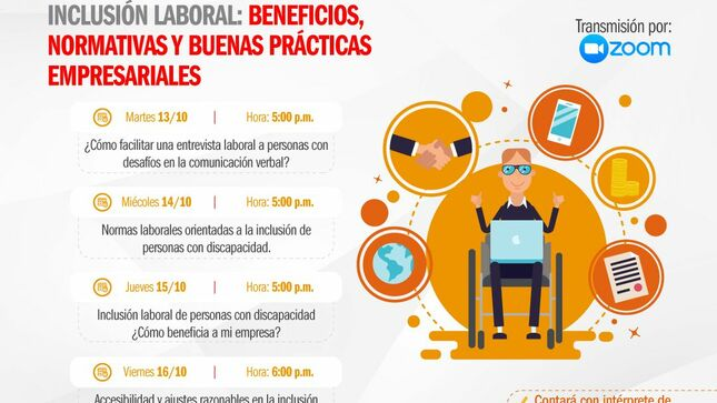 Impulsa Perú brinda conferencias virtuales gratuitas sobre inclusión laboral