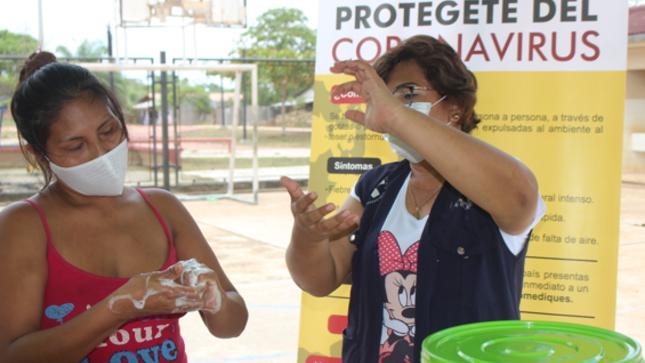 Red de salud Coronel Portillo realiza actividades de sensibilización por el día mundial del Lavado de manos y la alimentación saludable.