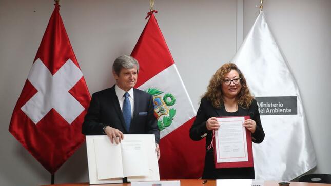 Perú y Suiza firman acuerdo de cooperación que busca reducir efectos del cambio climático