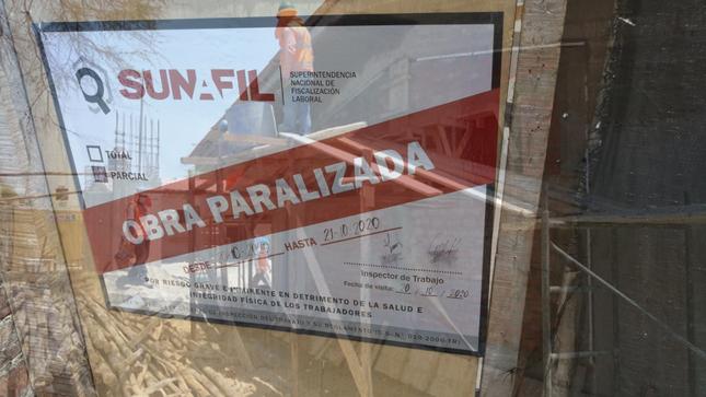 SUNAFIL paraliza obra de colegio por exponer a sus trabajadores a riesgos graves