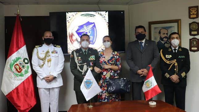 Reconocimientos a los Agregados de Defensa de Colombia y Chile al término de sus funciones