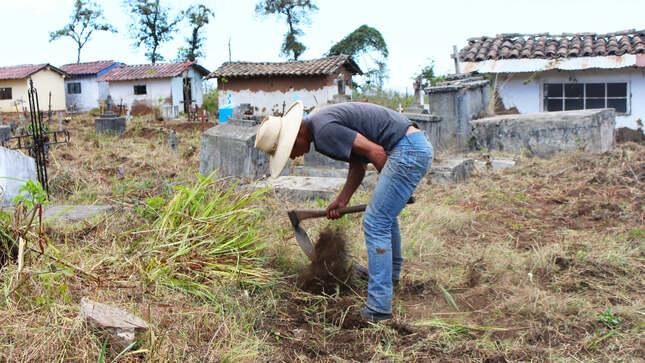 Alcalde, Sr. Nevil Hernán Becerra Llanos, viene realizando el trabajo de limpieza del Cementerio San Moisés