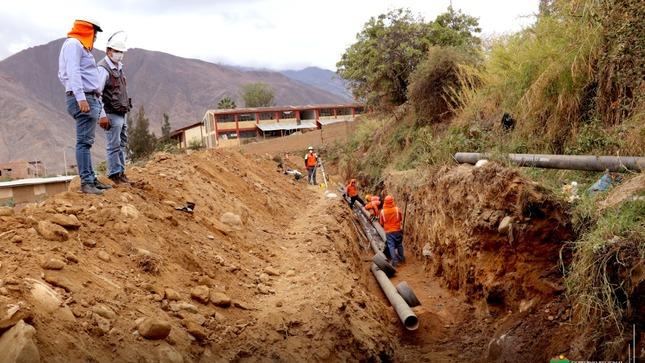 HUÁNUCO: OBRA DE AGUA Y DESAGUE DE LA ESPERANZA LLEVA UN AVANCE DEL 23.91 %