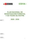 Vista preliminar de documento Plan Nacional de Investigación Forestal y de Fauna Silvestre 2020 - 2030