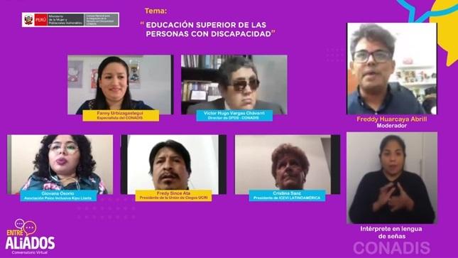 """CONADIS realizó conversatorio sobre """"Educación Superior de las Personas con Discapacidad"""""""