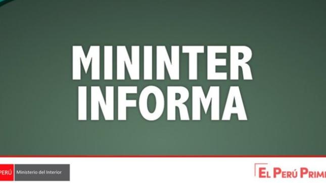 COMUNICADO CONJUNTO MINDEF – MININTER