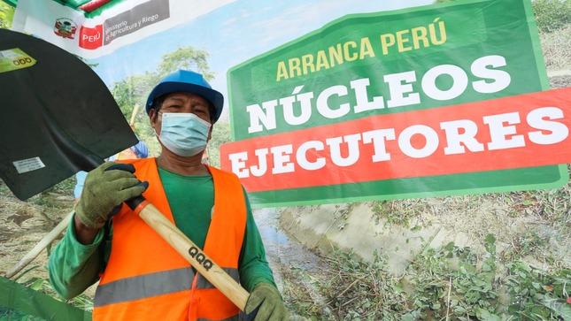 Generan 422 mil jornales en el agro a través de Núcleos Ejecutores en regiones del país