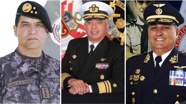 Ejecutivo nombra a nuevos comandantes generales de las Fuerzas Armadas | Gobierno del Perú