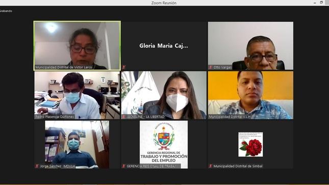GOBIERNO REGIONAL REALIZA MESA DE TRABAJO DE SEGURIDAD Y SALUD EN EL TRABAJO CON LOS MUNICIPIOS DE LA PROVINCIA