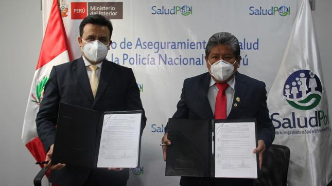 SALUDPOL FIRMA CONVENIO CON EL HOSPITAL GUILLERMO DIAZ DE LA VEGA DE APURÍMAC