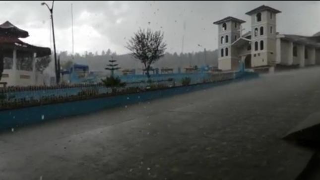 Sierra sur de Cajamarca y La Libertad presentaron lluvias y granizadas