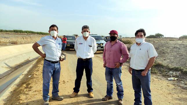Trabajos de reparación del Canal Talambo Zaña.