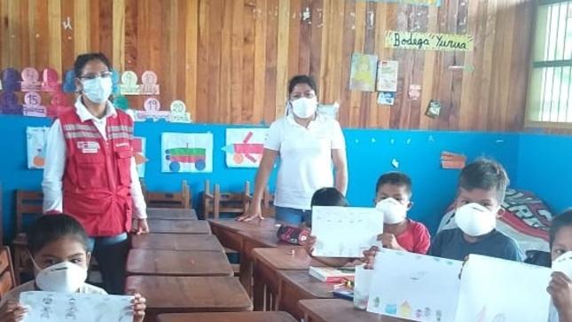 """Pensión 65 desarrolla concurso escolar """"Los Abuelos Ahora"""" en Yurúa para concientizar la prevención del COVID-19 en adultos mayores"""