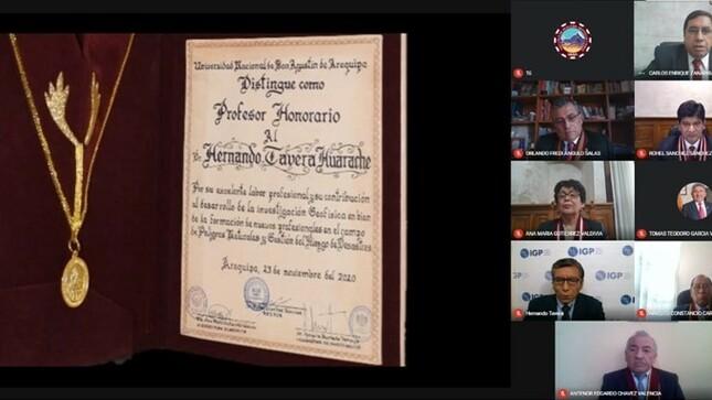 Distinguen al Dr. Hernando Tavera, Presidente Ejecutivo del Inaigem