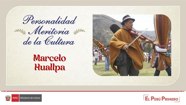 Ministerio de la Cultura otorga distinción de Personalidad Meritoria de la Cultura a violinista Marcelo Huallpa Ccorahua