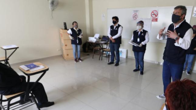 ONPE realizó jornada nacional de capacitación a miembros de mesa para las elecciones internas partidarias