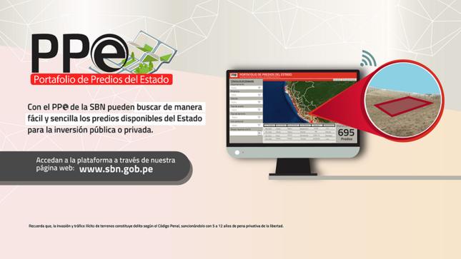 """Plataforma """"PPE"""" de la SBN permite ubicar   la información de los predios del Estado"""