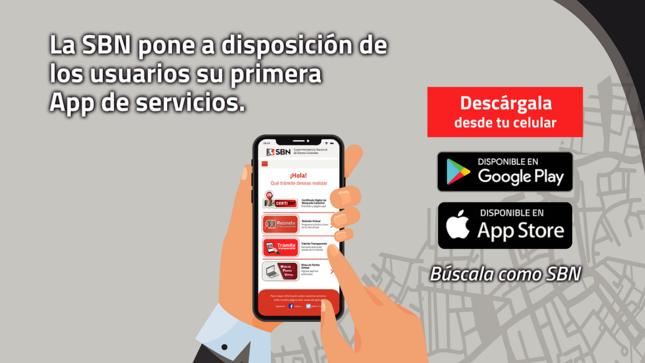 SBN lanza aplicativo móvil de servicios  para la gestión de predios estatales