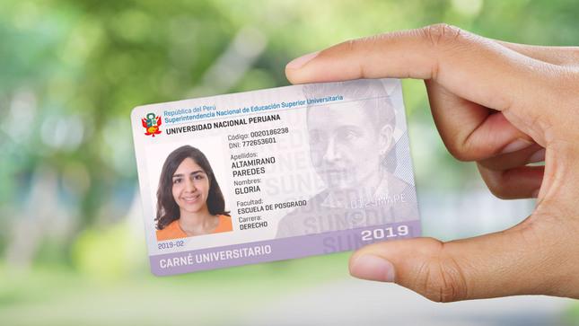 SUNEDU amplía vigencia de carné universitario  hasta el 31 de mayo del 2021