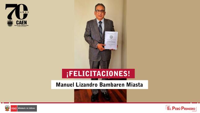Sustentación virtual de tesis - Manuel Lizandro Bambaren Miasta