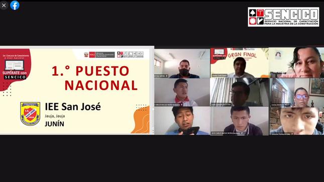 """Alumnos del colegio San José de Jauja ganan primer concurso nacional """"Supérate con Sencico 2020"""""""