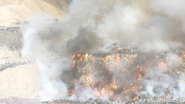 OEFA supervisa incendio en el  botadero Quebrada del Cementerio en Moquegua