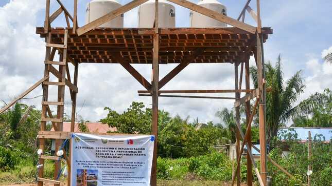 GOBIERNO REGIONAL PUSO EN MARCHA PRIMER SISTEMA DE AGUA POTABLE CON ENERGIA SOLAR, EN COMUNIDAD NATIVA DE PALMA REAL