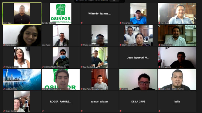 OSINFOR capacitó a líderes indígenas y autoridades regionales de Tarapoto en uso de la Mochila Forestal