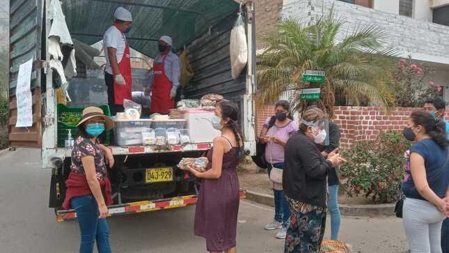 En Huarochirí emprendedores de Haku Wiñay llevan productos hasta las viviendas de los consumidores