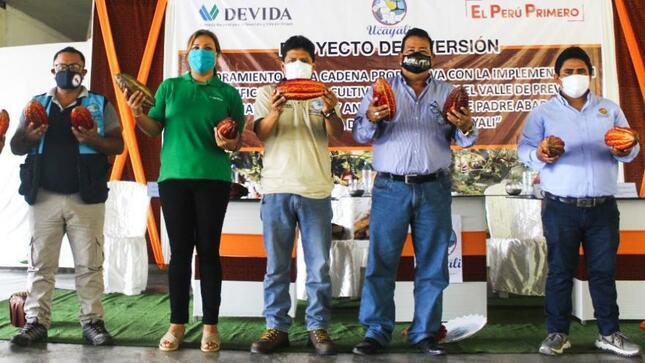 Ucayali: Devida y Gobierno Regional de Ucayali lanzan proyecto para mejorar la producción de cacao en beneficio de 500 familias