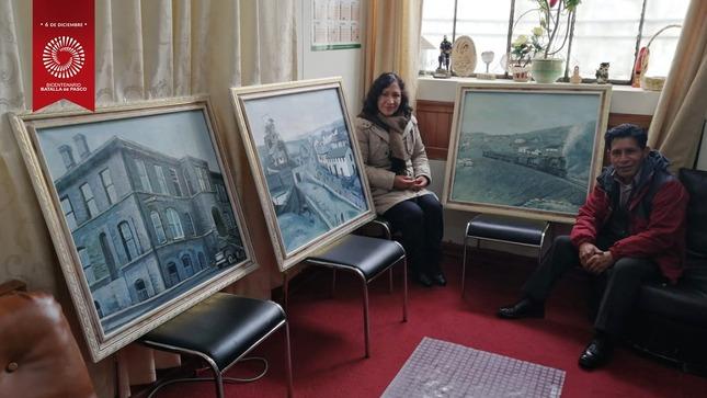 Entregan cuadros artísticos para centro de interpretación de la Minería Pasqueña