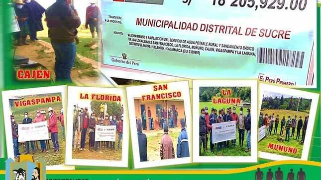 Caseríos tendrán mejor calidad de vida con obras de agua y saneamiento, alcalde colocó la primera piedra en localidades beneficiadas.