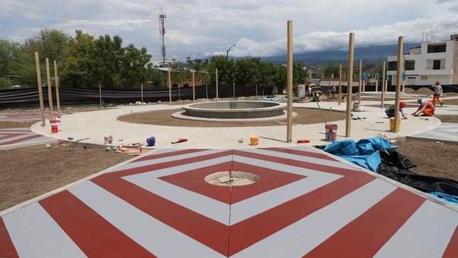 Más del 70% de avance presenta la construcción del parque en san luis bajo