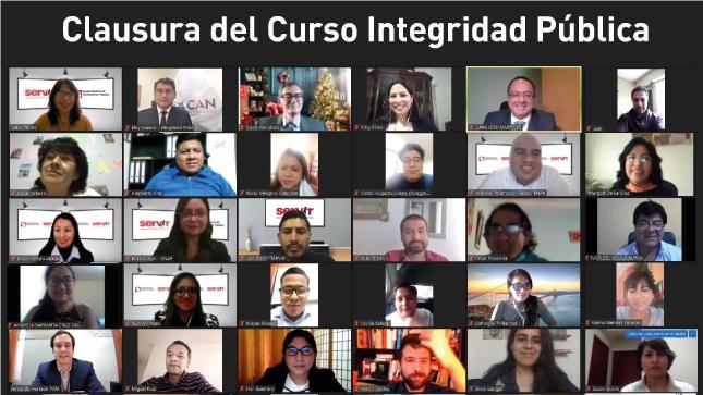 SERVIR y ENAP clausuran Programa Introducción a la Integridad Pública