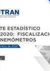 Vista preliminar de documento Reporte Estadístico N° 002-2020: Fiscalización con Cinemómetros