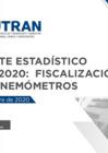 Vista preliminar de documento Reporte Estadístico N°001-2020: Fiscalización con Cinemómetros
