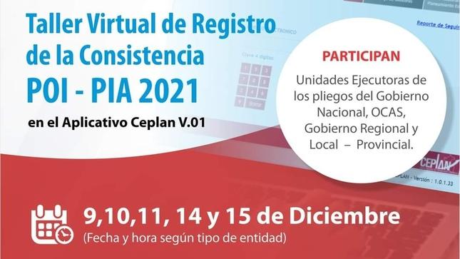 Más de 2 mil servidores públicos recibieron capacitación en la Consistencia del POI – PIA 2021