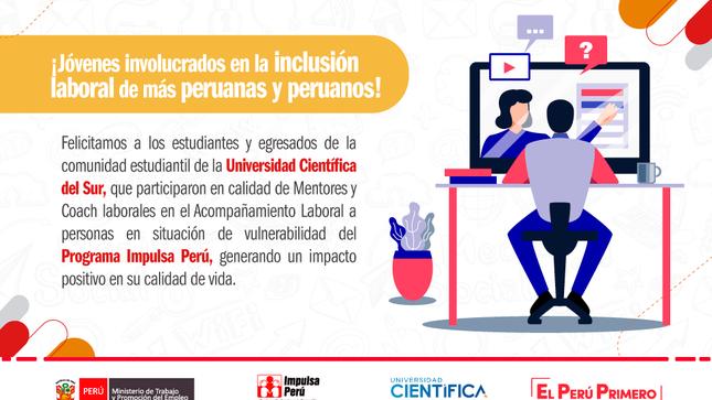 Participantes de Impulsa Perú recibieron acompañamiento laboral de la UCSUR