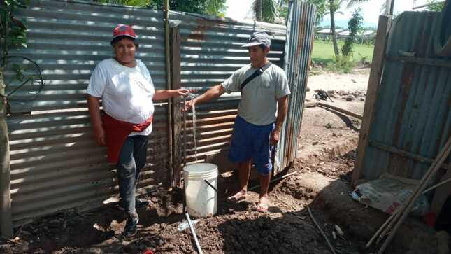 Parte de la población del Caserío Faustino Maldonado ya cuentan con el servicio de agua.