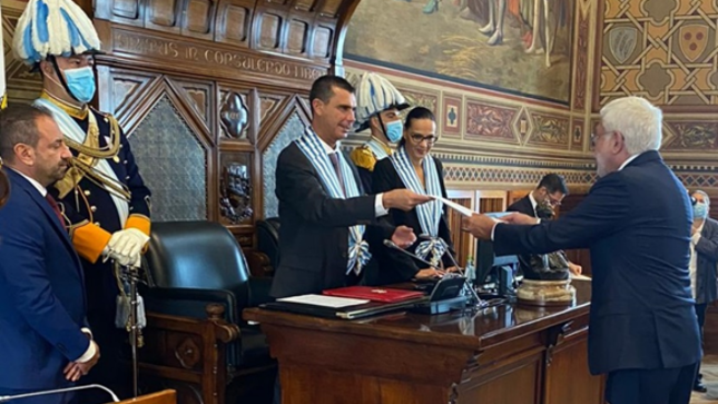 Presentación de cartas credenciales en la República de San Marino