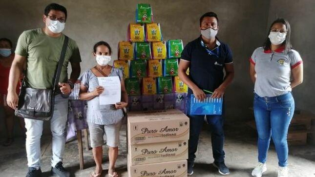 Comedores populares de la provincia de El Dorado recibieron donación de panetones.