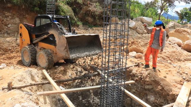 Construcción de cobertura en el almacén y/o taller del Área de Maquinaria en el barrio La Florida, reporta un avance físico del 13.80 %