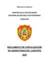 Vista preliminar de documento Reglamento de convalidación de asignaturas del CAEN-EPG