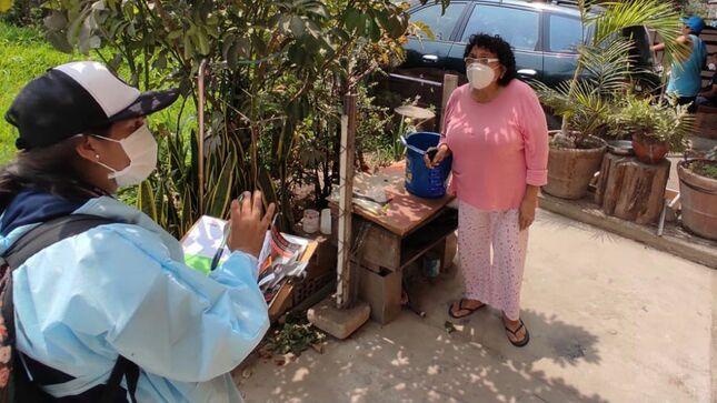 Inspectores antidengue visitan más de 40 000 viviendas de Lima Este para prevenir y eliminar criaderos de zancudo