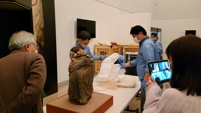 Colaboración con supervisión de bienes culturales expuestos en Japón