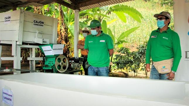 Vraem: Inauguran Planta de Beneficio Húmedo Ecológico para mejorar el proceso de poscosecha de café en Kimbiri