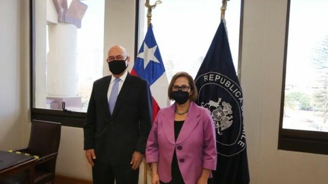 Embajador del Perú visita a Presidenta del Senado