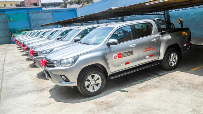 PVD entrega camionetas a Unidades Zonales para potenciar seguimiento de proyectos de infraestructura vial