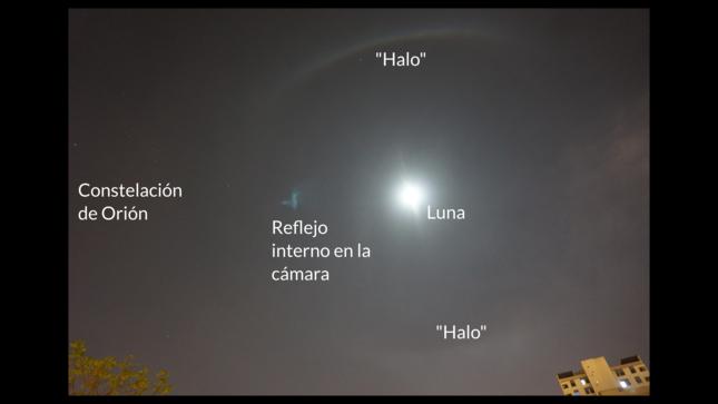 Halo lunar sobre Lima