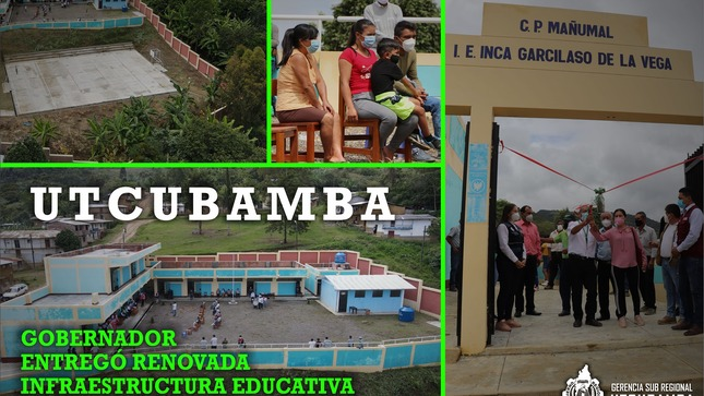 Gobernador entregó renovada infraestructura educativa en Centro Poblado Mañumal